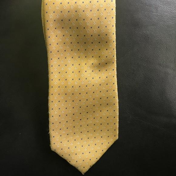 Chaps Other - Men's Chaps Yellow Blue Dot Tie